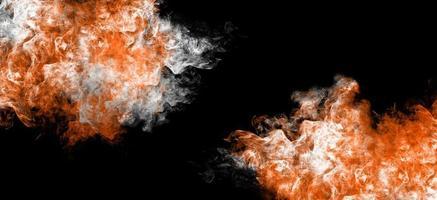 Ilustración 3d de humo de fuego de fantasía foto