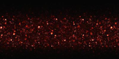Golden red bokeh glitter background, 3d illustration photo