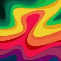 ola fondo arco iris colorido vector