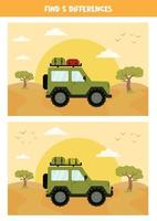 Find 5 differences between the pictures. vector