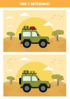 Encuentra 5 diferencias entre las imágenes. vector