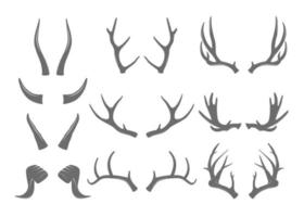 Horns Illustrations Set vector