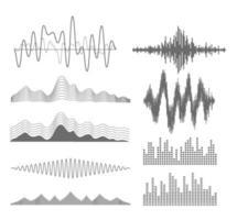 conjunto de iconos de ecualizador vector