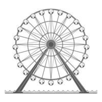 Ferris Wheel Illustration vector