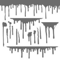 Liquid Leaks And Drops vector