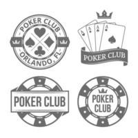 Poker Emblems Illustrations vector