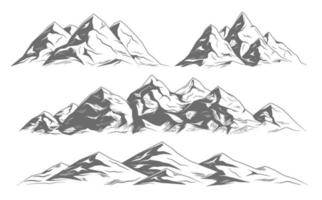 Mountain Landscapes Illustrations vector