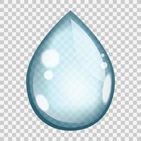 gota de agua azul vector
