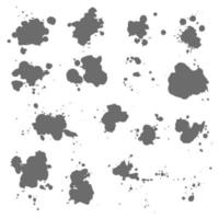 Splashes, Stains, Ink Spots vector