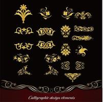Set of vintage ornamental flourishes vector