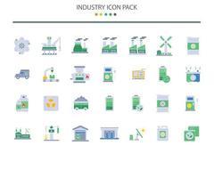 iconos de la industria en estilo plano vector