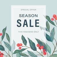 Season Sale illustration vector