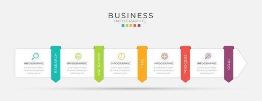 diseño de infografía empresarial vector