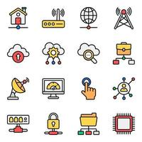 Network and Technology Icon Set vector