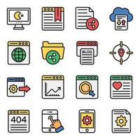 Marketing and Business Icon Set vector