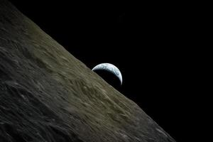 Planet earth view from the moon, elements of this image furnished by NASA, illustration