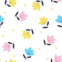 Summer Flower Seamless Pattern Background Vector Illustration EPS10