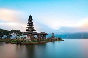 Ulun Danu Beratan Temple on the western side of the Beratan Lake, Bali, Indonesia