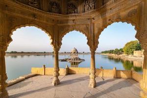 Gadisar lake in the morning at Jaisalmer, Rajasthan, India