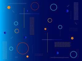forma geométrica abstracta azul diseño moderno vector