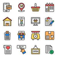 Shopping and Commerce Icon Set vector
