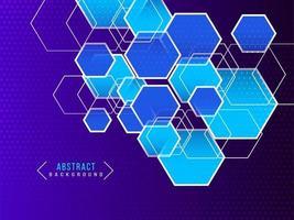 patrón de fondo moderno azul geométrico degradado abstracto vector