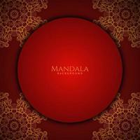 hermoso diseño de mandala moderno fondo de lujo decorativo vector