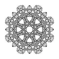 fondo artístico hermoso diseño de la mandala vector
