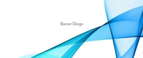 Abstract blue modern wave design banner background vector