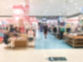 Abstract blur shopping mall photo