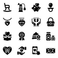 Mother care Icon Set vector