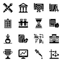 Web Science and Education Icon Set vector