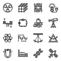 Educational and Experimental Elements Icon Set vector