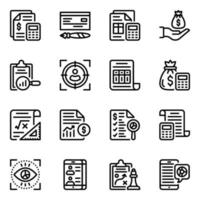 Finance and Ecommerce Icon Set vector