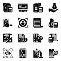 Finance and E-commerce Icon Set vector