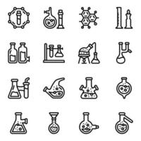 Chemistry Experiments Icon Set vector