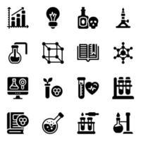 Chemistry Practical Elements Icon Set vector