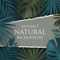 Abstract Natural Background with Tropical Palm and Monstera Leaves. Vector Illustration EPS10