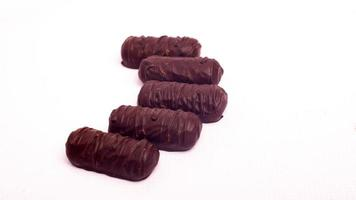 Chocolate candies isolated on a white background photo