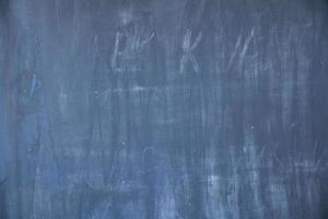 School chalkboard in classroom wiped clean and ready for students
