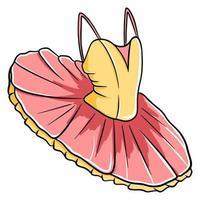 Tutú de ballet para bailar. ropa de baile. vector