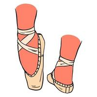 Pink pointe shoes vector
