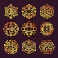 Set of geometric mandalas vector