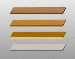 Wooden background elements. Wood background. vector