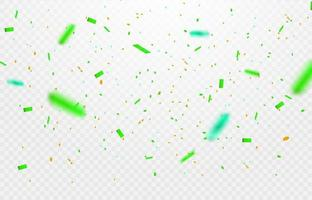 Confetti elements falling on trasparent background. vector