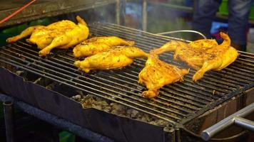 Grilling Chicken Street Food Style