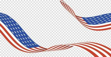 4th of July background design with realistic flag elements. EPS10 vector illustration.