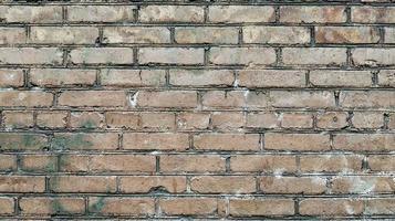 Old brown brick wall photo