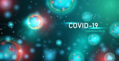 Coronavirus or COVID19 background. Vector Illustration.
