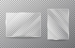 Glass object on transparent background. vector